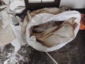 内装解体、不用品処分、袋詰め